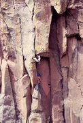 Rock Climbing Photo: Steve Grossman (during his Royal Robbins phase) tu...