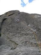 Rock Climbing Photo: Wheat thin!  5.7 doesn't get any better than 110' ...