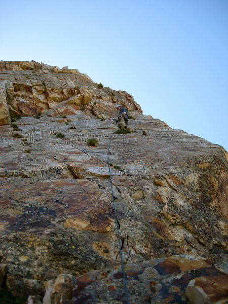 Sean taking a rest during the last pitch of eleventh hour.  The best pitch without question of the route.