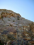 Rock Climbing Photo: Sean taking a rest during the last pitch of eleven...