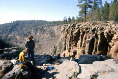 Rock Climbing Photo: Old days at Volunteer (the Cwm)- racking gear (all...