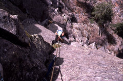 Rock Climbing Photo: Dugald Bremner follows on an early ascent of Mr. C...