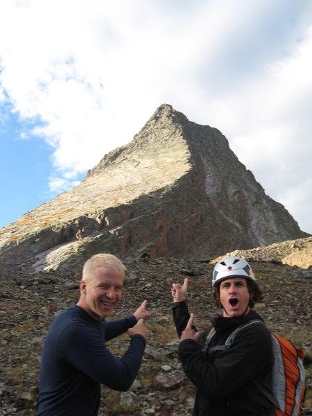 Rock Climbing Photo: Jack Sasser and Brendan Leonard in awe of the Wham...