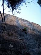 Rock Climbing Photo: AMAZING blue streak ... CENTER EL SHINTO, Ten SLEE...