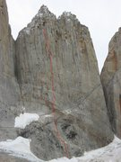 "Rock Climbing Photo: Topo ""Hasta Chonchi"" East face North Tow..."