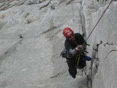Rock Climbing Photo: Felipe Cleaning  3 pitch
