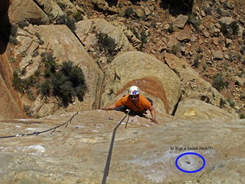 Rock Climbing Photo: I would like everyone to be aware of the loose roc...