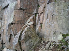 Rock Climbing Photo: Base of Dihedral,right in center of picture.