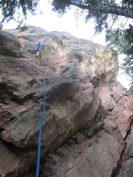 Paul toproping The Shaft in spring 2008.