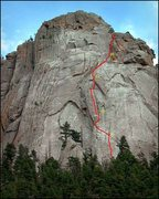 Rock Climbing Photo: A beautiful line with a little of everything