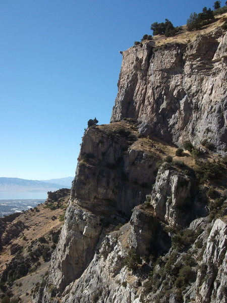 Rock Climbing Photo: Pitches 3-8. Couple of parties are visible at the ...