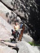 Rock Climbing Photo: Brenda and Tobey at the base of Car Stud.