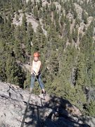 Rock Climbing Photo: Brenda raps off the big pine tree on the back of t...