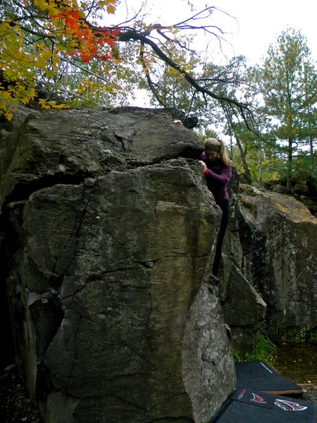 Rock Climbing Photo: Fall colors.