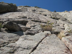 Rock Climbing Photo: At the top of our second pitch. We climbed up usin...