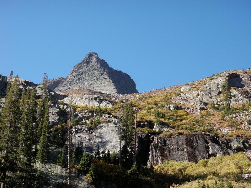 Vestal Peak and Wham Ridge from Vestal Basin