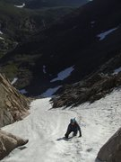 Rock Climbing Photo: Climbing the lower couloir