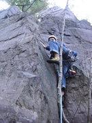Rock Climbing Photo: Down low near the start.