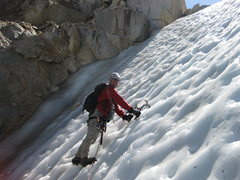 Rock Climbing Photo: 24-September-2010: short last pitch to the couloir...
