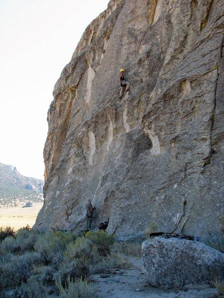 Rock Climbing Photo: Dan Zobell above the steep bit.