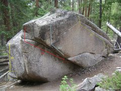 The problems on the Trail Boulder.