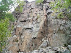 Rock Climbing Photo: Front of the, Main wall, section. Dihedral route i...