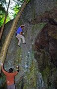 Rock Climbing Photo: Justin Guarino on 'Yosemite Arete' v4