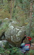 Rock Climbing Photo: Sarah on Split Personality