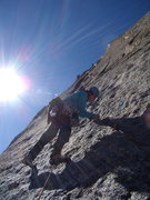 "Rock Climbing Photo: Jordon on ""The Barb"".  Spearhead, RMNP, ..."
