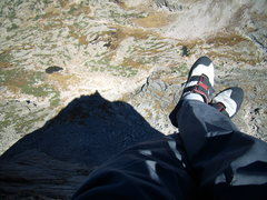 Rock Climbing Photo: Spearhead Shadow, RMNP, Sat 9-25-2010.