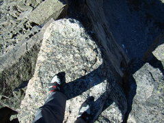 Rock Climbing Photo: Summit of Spearhead.  RMNP 9-25-2010