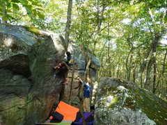 Rock Climbing Photo: Cheater start, back when the problem description s...