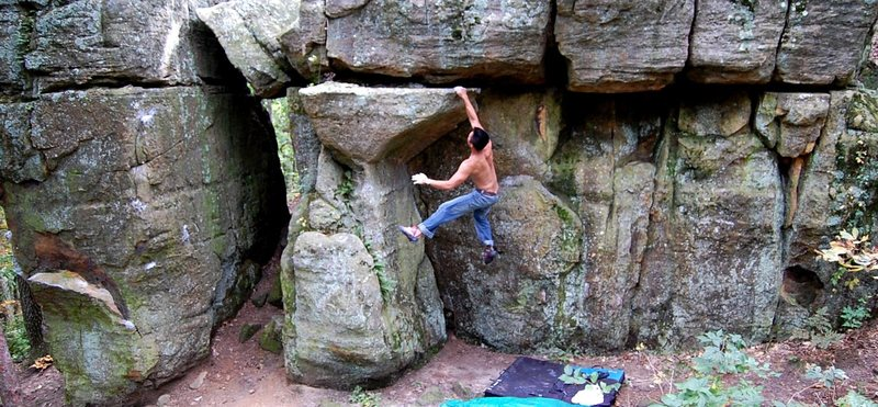 Rock Climbing Photo: grabbing the dyno