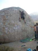 Rock Climbing Photo: Nearing the end....Great problem, kep an eye on th...
