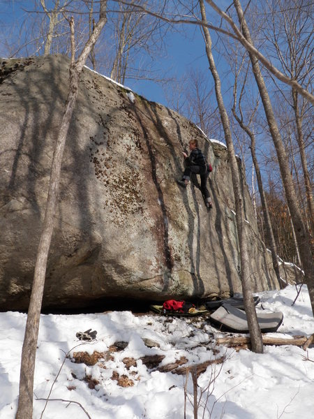 Rock Climbing Photo: newly cleaned line