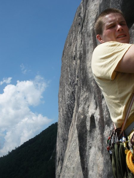 Seconds, 5th belay just before bailing before 3 hour storm.