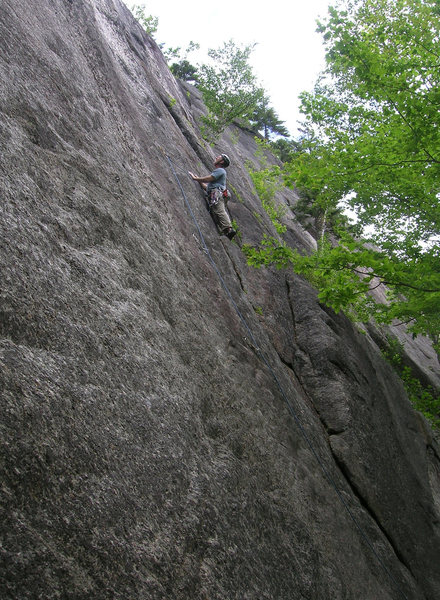 Rock Climbing Photo: Unknown right, prior to making the delicate move o...