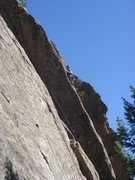 Rock Climbing Photo: At the second crux.  Photo by Brian R.