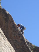Rock Climbing Photo: Starting the third crux sequence.  Photo by Brian ...