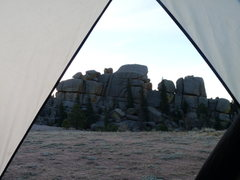 Rock Climbing Photo: The view from the tent.