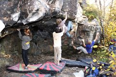 Rock Climbing Photo: Mountain Goats after cleaning up the cave