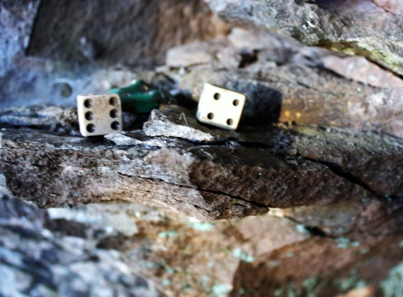 Rock Climbing Photo: The Dice left behind from our alternative living f...