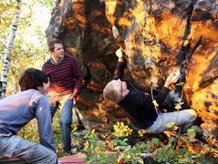 Rock Climbing Photo: Tyler getting one more climb in