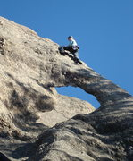 Rock Climbing Photo: Me, cleaning Gossamer 5.7, Mt. Rushmore area