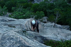 Rock Climbing Photo: At the pin (crux)