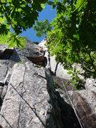 Rock Climbing Photo: Gunklandia (reg. route) Marat just emerging out fr...