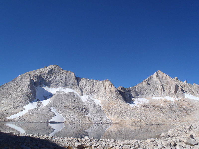 Feather Peak (right) and Royce Peak (left) above Royce Lakes