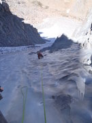 Rock Climbing Photo: Kevin following the second ice pitch