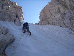 Rock Climbing Photo: Cory leading pitch 4
