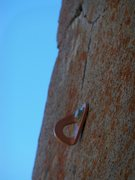 Rock Climbing Photo: After clipping this bolt, step left on smaller and...